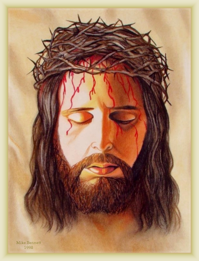 Jesus with Crown of Thorns Face