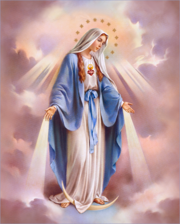and virgin mary Holy rosary