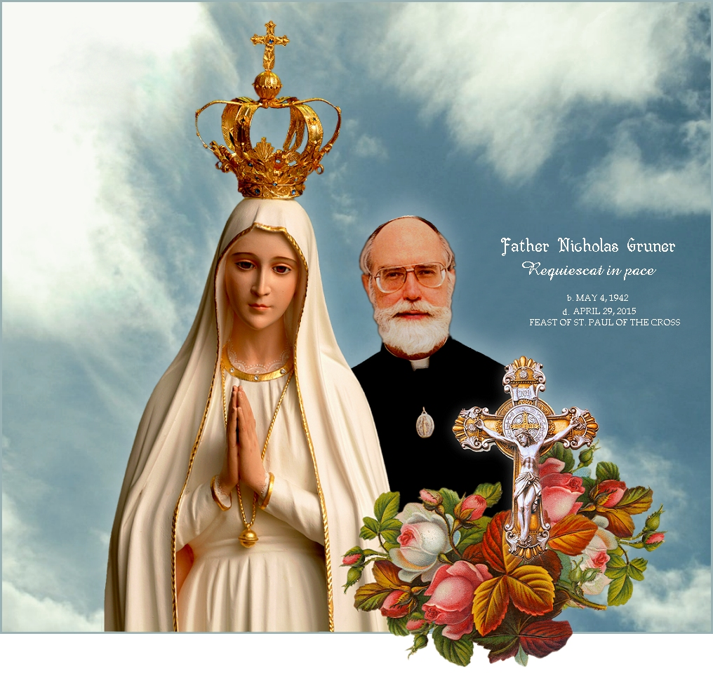 OUR LADY WITH FATHER GRUNER