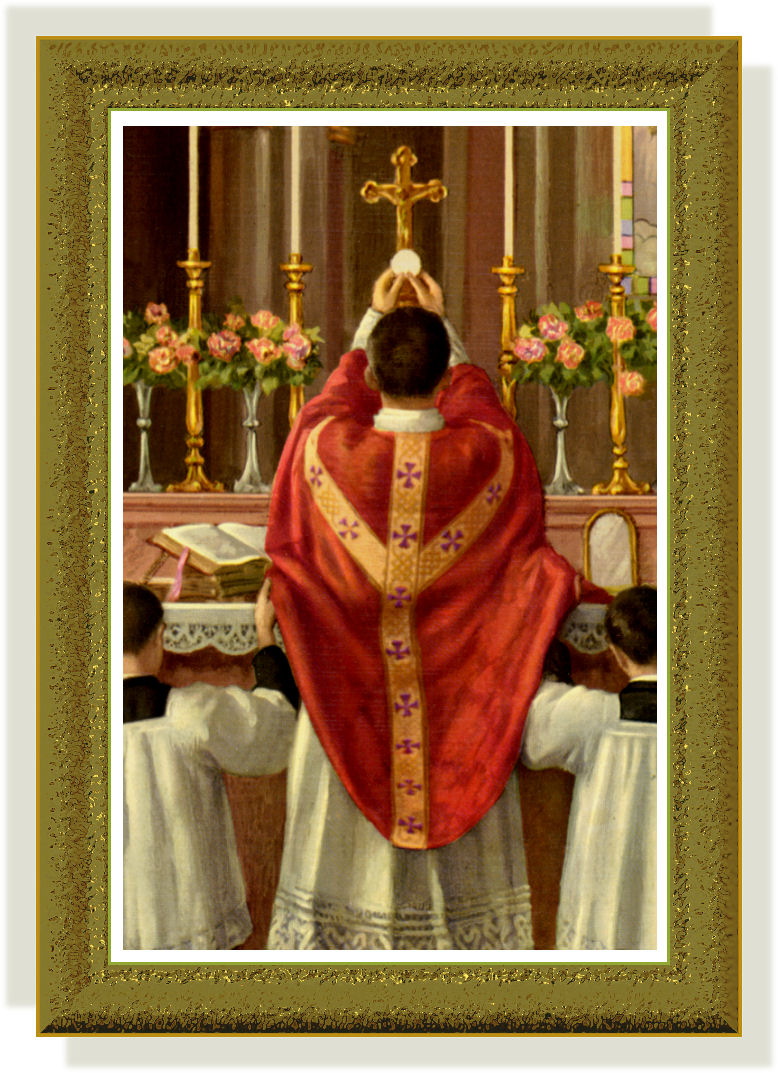 TRADITIONAL MASS IMAGE IN FRAME